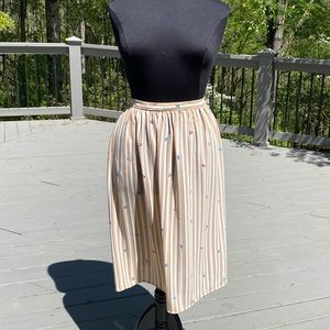 Vintage 80s 90s Highwaisted Striped MIDI Skirt